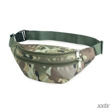 Waterproof Nylon Sport Fanny Pack Waist Bag Colored Camouflage Crossbody Purse