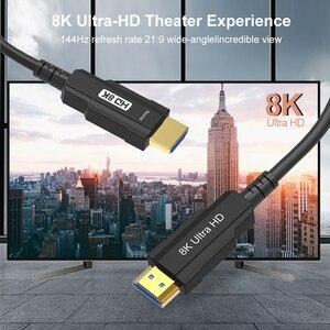 Image 3 - Hình Thật 100% Sợi Cáp Quang HDMI Tương Thích 2.1 8K Tốc Độ Cao 48Gbps 8K @ 60Hz 4K @ 120Hz HDCP2.2 HDR4:4:4 Cho PS5 HD Blu ray Chơi