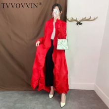 TVVOVVIN Europe Cardigan Trench Coat Women 2019 Autumn New Solid Color Ladies Wi