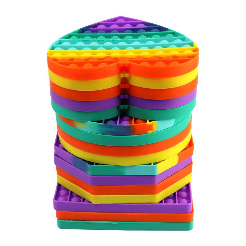 Sensory Toy Fidget-Toys Bubble Squeeze Square Silicone Stress Reliever Dropship Big-Size img5