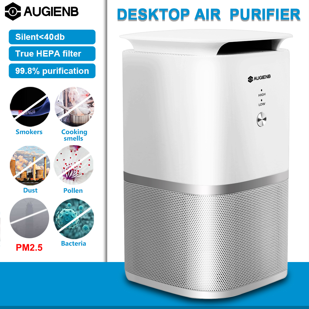 AUGIENB A-DST02 Air Purifier HEPA Active Carbon Filter Sterilizer Odor Allergies Remover For Smoke,VOCs,Pollen,Dander,Smog,PM2.5