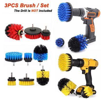 전동드릴 Furadeira Elétrica 3Pcs/Set Electric Drill Clean Brush Scrub Brush Powered Clean Tire Attachments 2