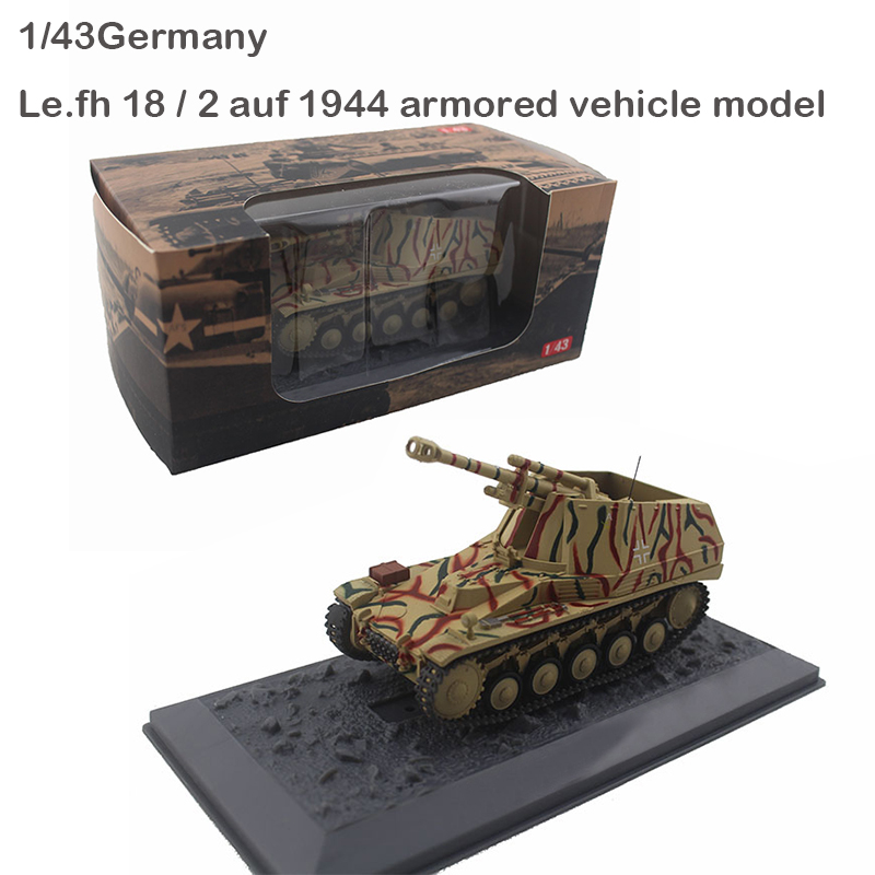Rare  1/43  Germany  Le.fh 18 / 2 Auf 1944 Armored Vehicle Model  Alloy Collection Model