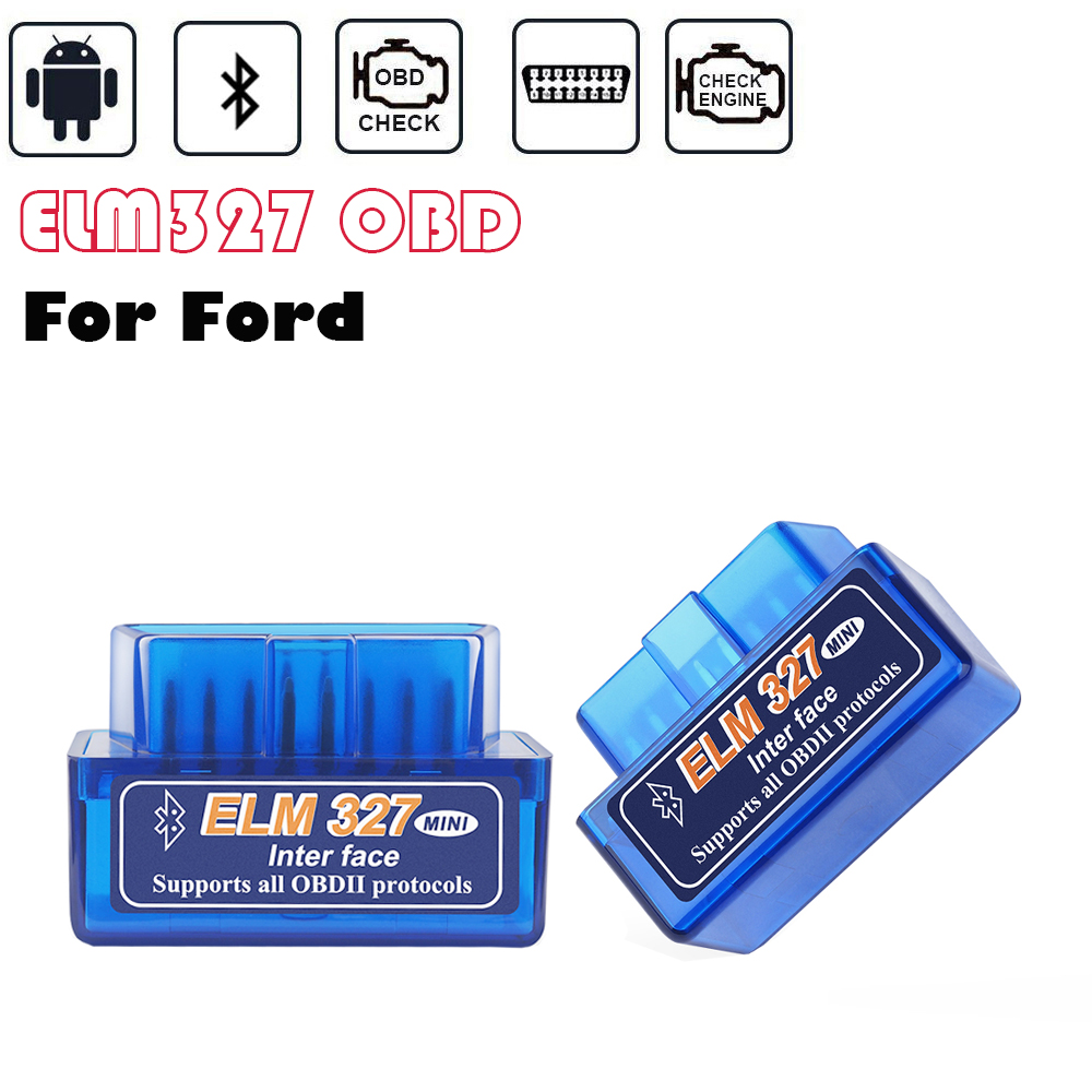 Para ford fusion focus mk2 mondeo mk4 fiesta st escala elm327 obd2 scanner torque android bluetooth obd carro ferramentas de diagnóstico