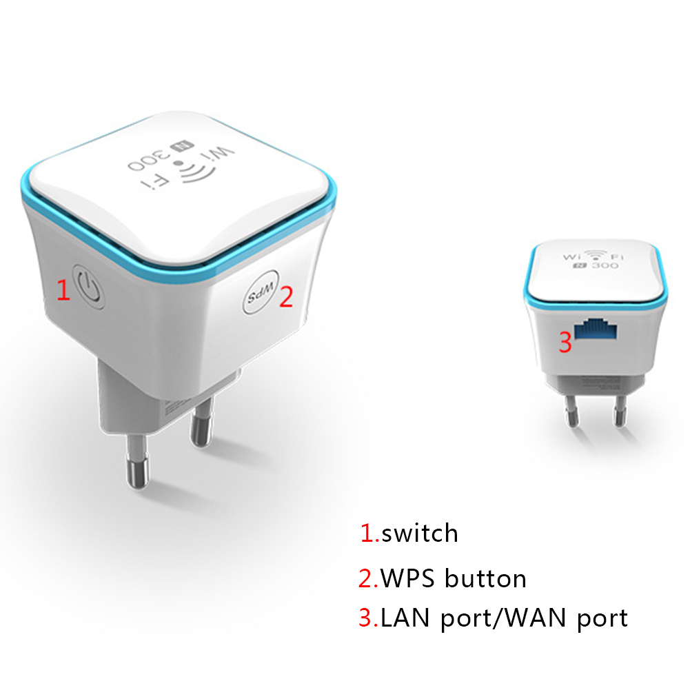 WiFi Range Extender Mini Wireless 300 Mbps Wi-Fi Repeater Ethernet Port Internet Signal Amplifier  GV99