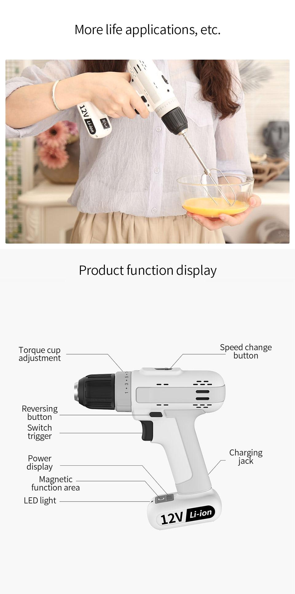 Xiaomi mijia lítio recarregável ferramentas de perfuração
