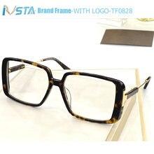 Очки ivsta tom tf0828 женские с логотипом большие брендовые