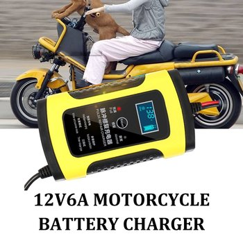 Car Battery Charger Automobile Motorcycle Intelligent Pulse Repair 12V 5A LCD Motocycle Battery Charging Device image