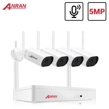 ANRAN 5MP Kit de videovigilancia cámara de Audio Kit NVR inalámbrico sistema de cámaras de seguridad 1920P al aire libre seguridad impermeable Cámara