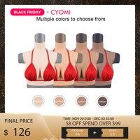 CYOMI Realistic Silicone Boobs High Collar Breast Forms Enhancer Mastectomy prosthesis Crossdresser Drag Queen Transgender 5G