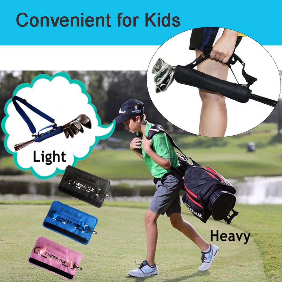 Lightweight Mini Golf Club Bag Driving Range Carrier Course Training Case Black Blue Pink for Men Women Kids 6