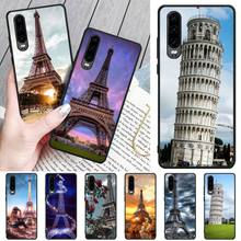 Tower of Pisa DIY Painted Bling Phone Case For Huawei P8 lite 2017 P9 P10 20Pro Lite Pro P30lite P Smart 2019 italian flag style graffiti leaning tower of pisa pattern case for samsung s6812 s6810 green