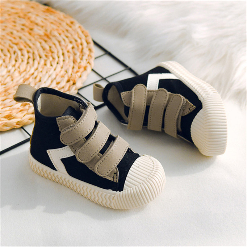 2020 New Children Casual Shoes Fashion Baby High-top Biscuit Shoes  Soft Bottom Soft Comfortable Student Children's Canvas Shoes