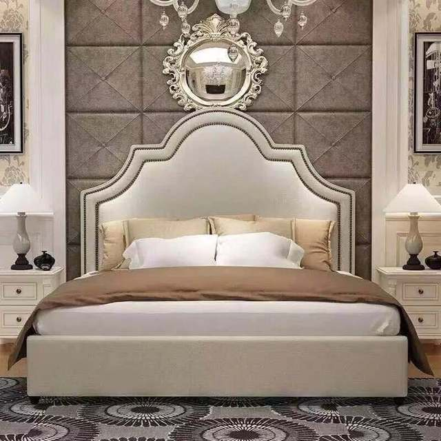 Bedroom Furniture Modern Fabric Bed Hotel Bed 1
