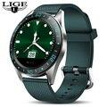 LIGE Новые смарт-часы мужские спортивные фитнес-трекер пульсометр кровяное давление монитор для Android ios шагомер Водонепроницаемые умные часы
