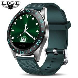 Image 1 - LIGE yeni akıllı saat erkekler spor Fitness takip chazı kalp hızı kan basıncı monitörü için Android ios pedometre su geçirmez smartwatch
