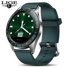 LIGE جديد ساعة ذكية الرجال جهاز مراقبة اللياقة الرياضية معدل ضربات القلب ضغط الدم رصد ل أندرويد ios عداد الخطى مقاوم للماء smartwatch