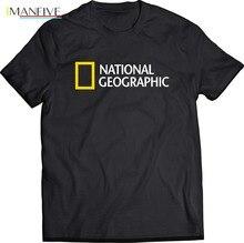 2019 Hot Sale 100% cotton National Geographic Black T-Shirt Tee shirt