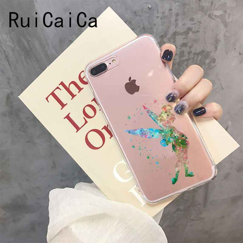 RuiCaiCa Watercolor princess little mermaid beauty and beast  Phone Case Cover for iPhone 8 7 6 6S Plus X XS MAX 5 5S SE XR 10