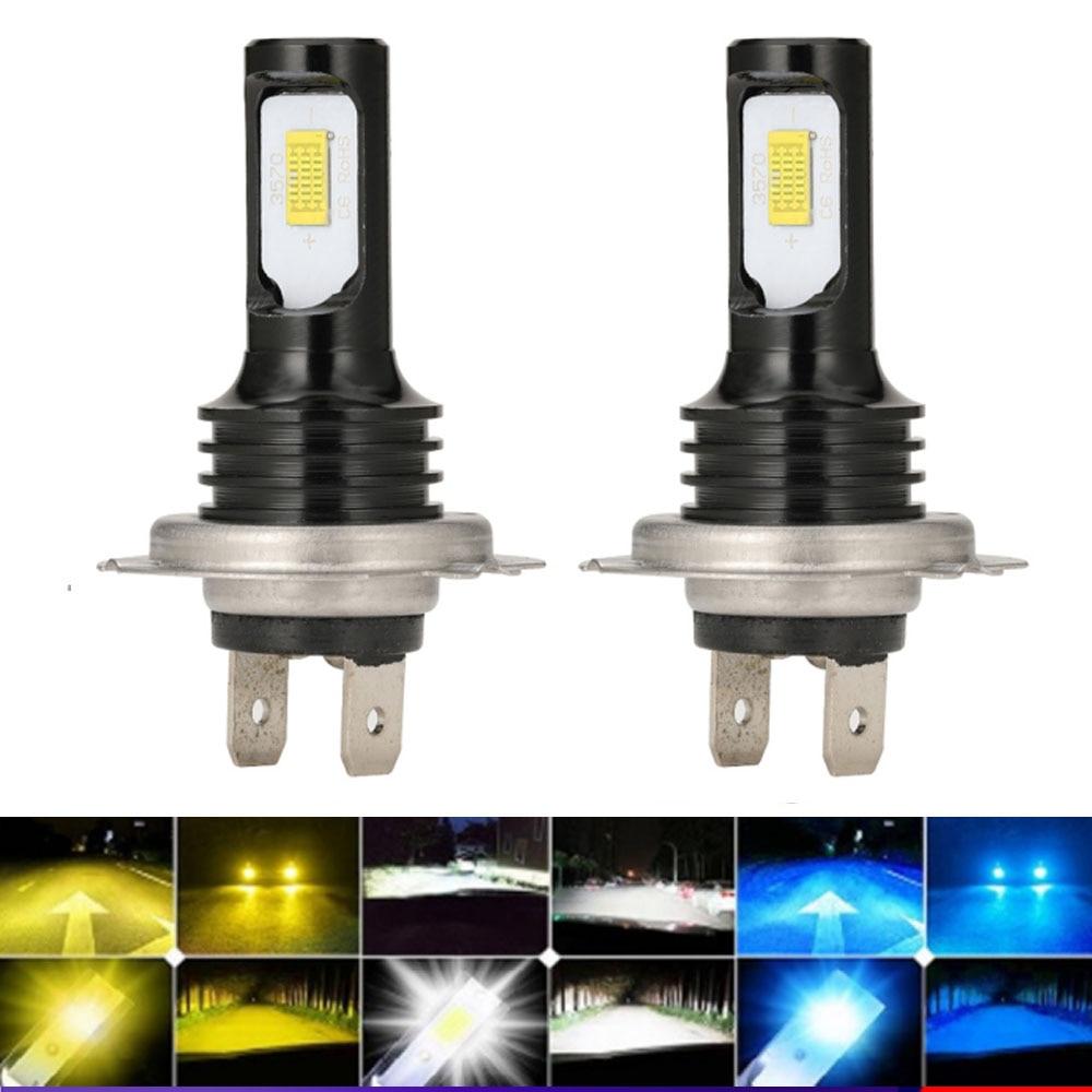 Светодиодные лампы H7 led 9012 H1 LED Lampada H4 HB2 9003 9005 9006 HB4 HB3 H11, аксессуары для автомобиля Canbus, светодиодный ые светодиодные фары 6000K, противотуманные ...