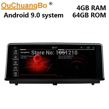 Ouchuangbo audio player radio recorder for 1 Series F20 F21 2 Series F23 Cabrio with Android 9.0 system 4GB+64GB NBT system image