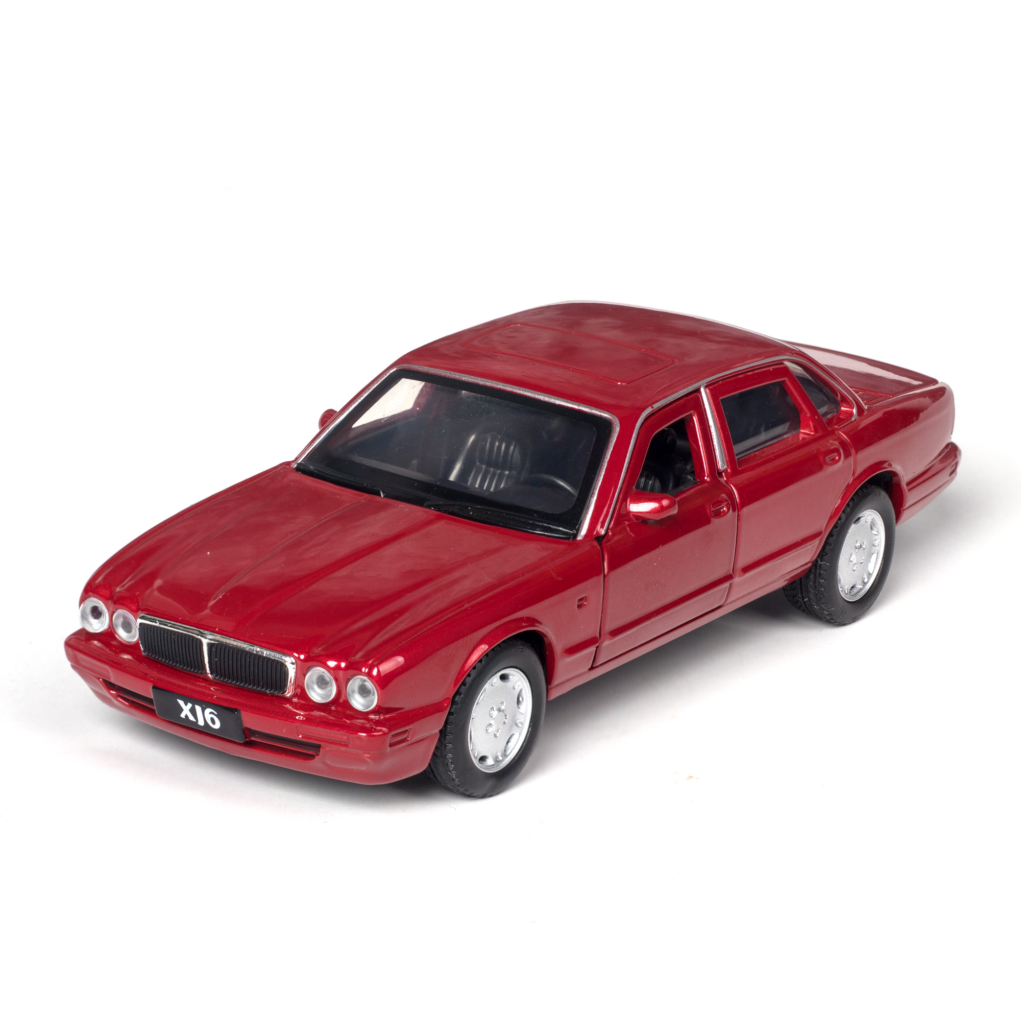 1:36 JAGUAR XJ6 Alloy Sports Car Model Diecast Super Racing Lifting Tail Wheel Pull Back For Children Car Toys Ornaments Gifts