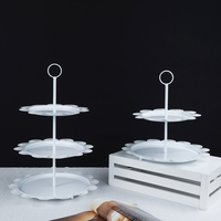 European cake stands dessert table decoration birthday wrought iron wedding decoration furnishings paper cup cake rack