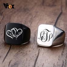 Vnox персонализированные мужские кольца перстни Коренастый из