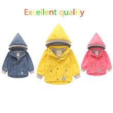 2019 Children Boys Detachable With Hat Windbreaker Yellow Jackets For Girls Waterproof Clothing Outdoor Raincoat Sport Coat