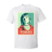 Camisetas para hombre estilo Tokio, camiseta de La casa de papel para hombre, Camiseta de algodón de 100% de verano con cuello redondo, camisetas de manga corta personalizadas, venta al por mayor