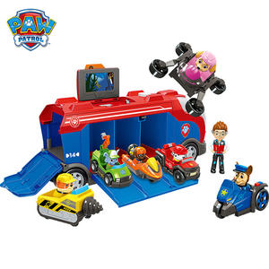 Bus-Toy-Set Model Action-Figures Rescue-Base Paw Patrol Mission Dogs-Ryder Birthday Anime