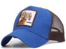 19 animal embroidery baseball truck net hat summer sunshade tourist hat sheep HORNY baseball cap wholesale