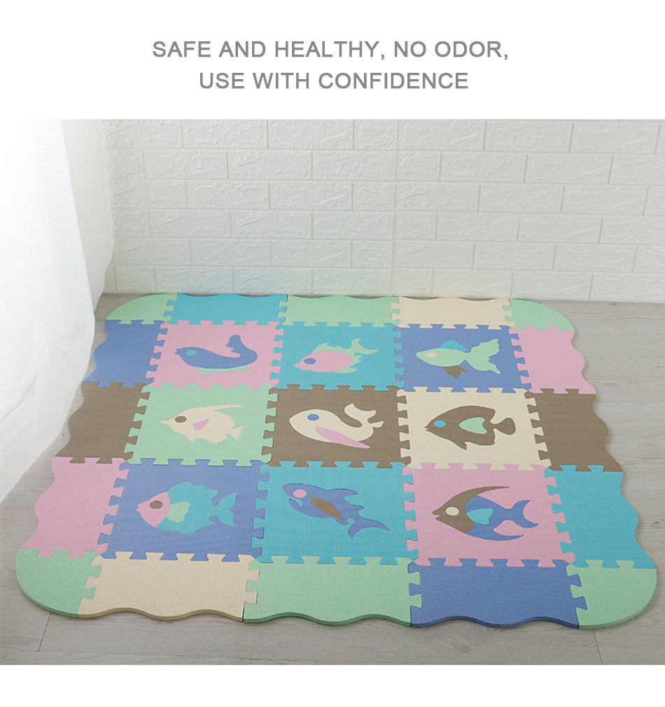 Hf1e5b04d18ee42cd8dc68a26d19fadc5J 25Pcs Kids Toys EVA Children's mat Foam Carpets Soft Floor Mat Puzzle Baby Play Mat Floor Developing Crawling Rugs With Fence