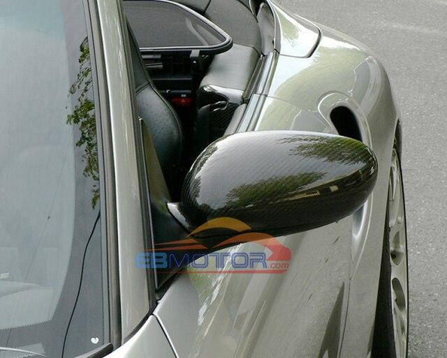 Prawdziwe lustro z włókna węglowego 1 para dla Porsche 911 996 Boxster 986 1998-2004 T052M