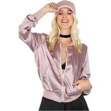 ladies jacket coat women sweatshirt zipper short baseball long sleeve Autumn winter casual outwear fashion Bomber Female new цены онлайн