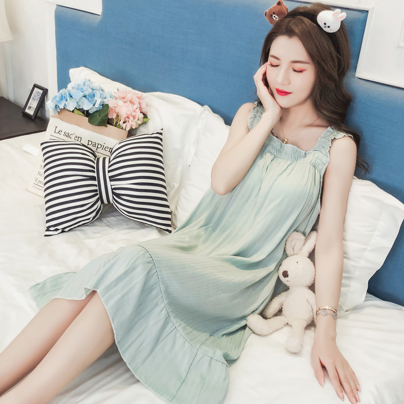 Chemise Femme Robe Night Dress Women Bolsa Roupa Nuisette Vestidos Mujer Gecelik Sleepwear De Noite Babydoll Short Rayon Summer