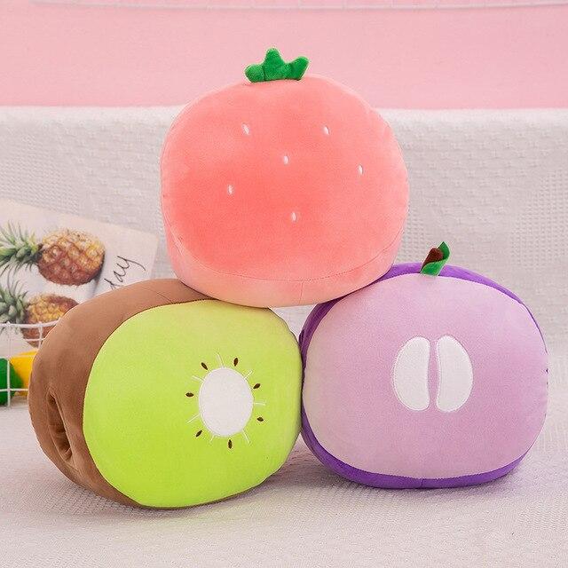 Creative autumn winter software cartoon fruit hand warming office nap pillow warm hand cushion  plush toy  anime plushie