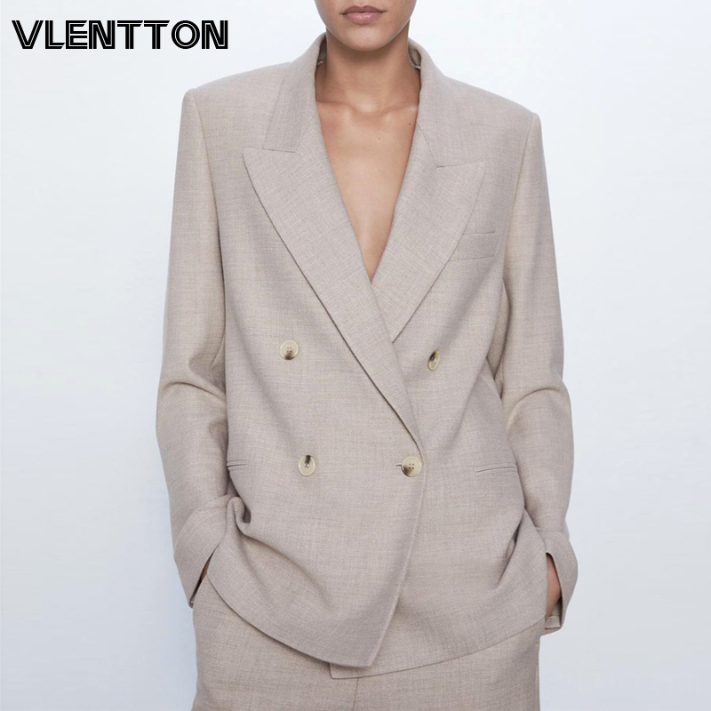 2020 Spring Autumn Vintage Women Blazers And Jackets Chic Button Solid Suit Coat Female Outwear Tops Office Lady Blazer Feminino