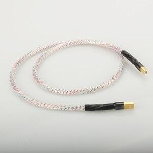 Image 2 - Hifi Nordost Valhalla Top bewertet Versilbert + schild USB Kabel Hohe Qualität Typ A zu Typ B Hifi daten Kabel Für DAC