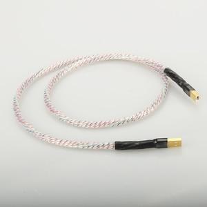 Image 2 - Hifi Nordost Valhalla topklasse Verzilverd + schild Usb kabel Hoge Kwaliteit Type A naar Type B Hifi data Kabel Voor DAC