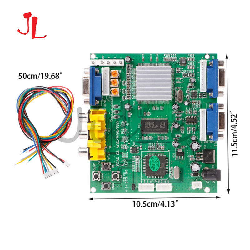 GBS-8220 Arcade Game RGB/CGA/EGA/YUV To VGA HD Video Converter Adapter Board Dual VGA output