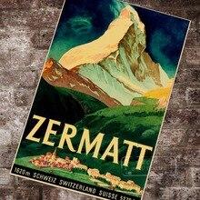 Suiza Wallis turismo Zermatt 1933 pinturas clásicas en lienzo pared vintage carteles pegatinas decoración del hogar regalo