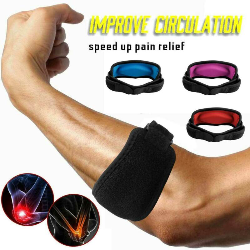 Tennis Elbow Support Brace Golfers Strap Epicondylitis Band Clasp Gym Sport Badminton Basketball Protector