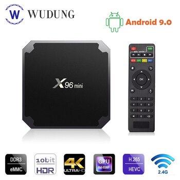 Android 9.0 TV BOX X96 Mini 2GB 16GB Amlogic S905W Quad Core 2.4GHz WiFi 4K HD Smart Media Player X96mini Set Top Box PK X96 MAX