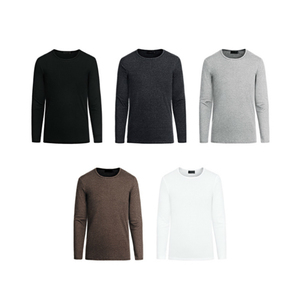 Image 2 - KUEGOU 2019 Autumn Cotton Plain White T Shirt Men Tshirt Brand T shirt Long Sleeve Tee Shirt Fashion Clothes Top Plus Size 801