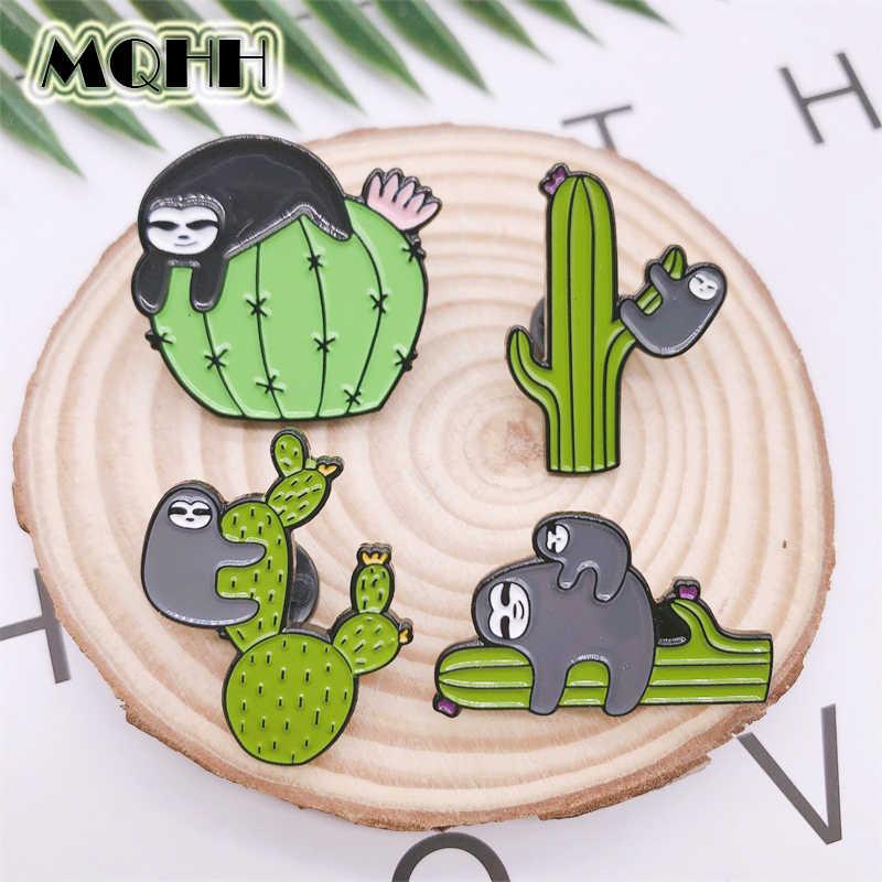 Cartoon Sloth Eating Watermelon Unisex Enamel Lapel Badge Brooch Pin Goodis QL