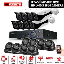 16CH Super HD 5MP DVR zestaw bezpieczeństwa 8 sztuk MINI metalowa kopuła 8 sztuk na zewnątrz ulicy klasyczne Hot sprzedaży Bullet nadzoru 5MP kamery