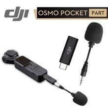 DJI Osmo Pocket 3.5mm Adapter do DJI Osmo kieszonkowy aparat profesjonalne nagrywanie akcesoria wsparcie zewnętrzny mikrofon 3.5mm