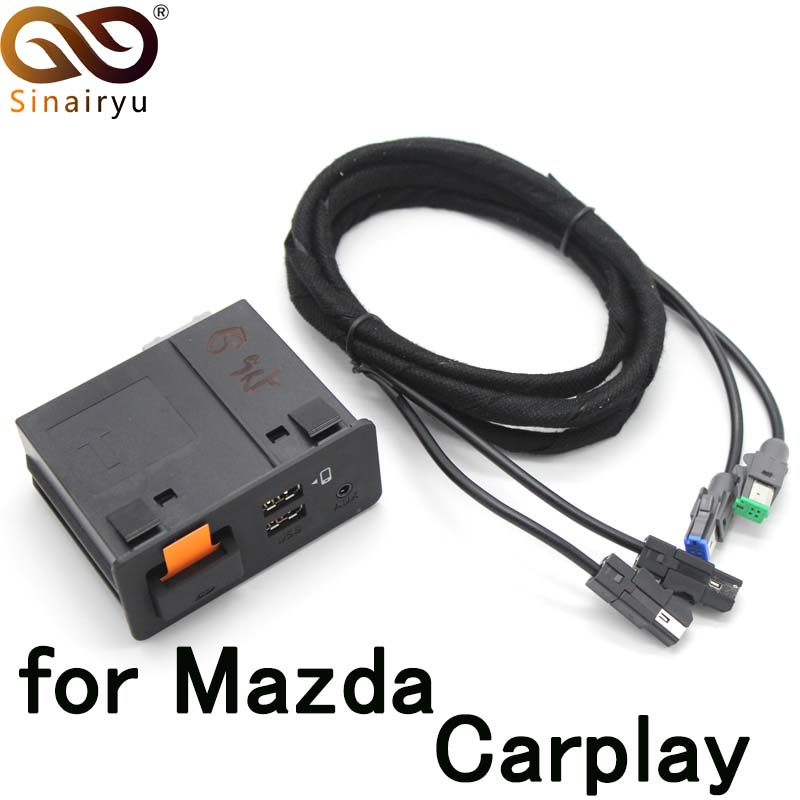 Sinairyu OEM Connect System CarPlay Carlife USB Adapter With Cable Wiring For Mazda TK78 66 9U0C K1414