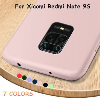 Para xiaomi redmi note 9s case silicone líquido anti-derrapante doce cor suave para xiaomi redmi note 9s case capa para note redmi 9s